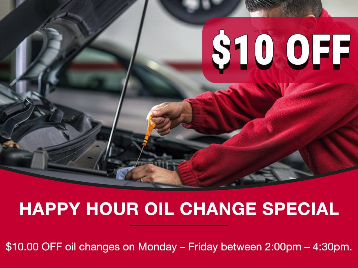 Happy Hour Oil Change Special Coupon