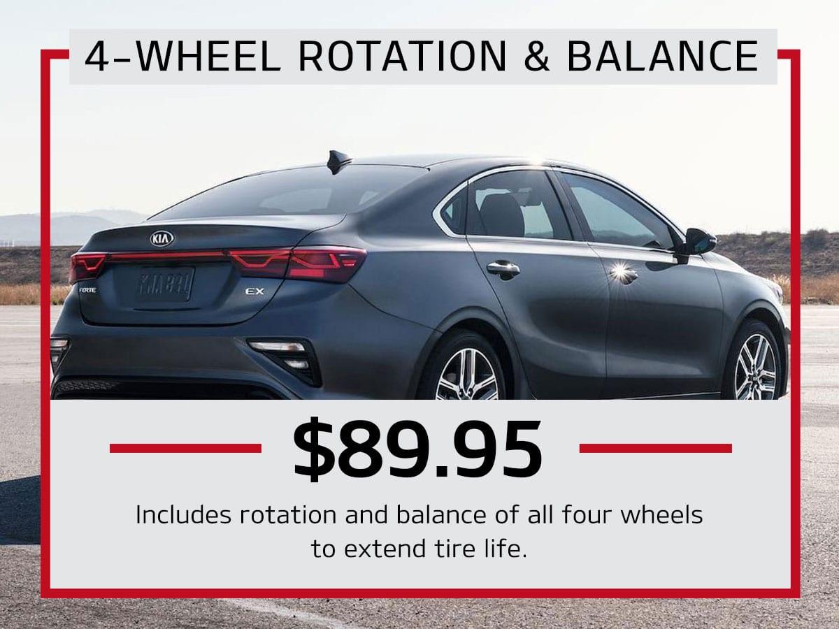 4-Wheel Rotation & Balance Service Special Coupon