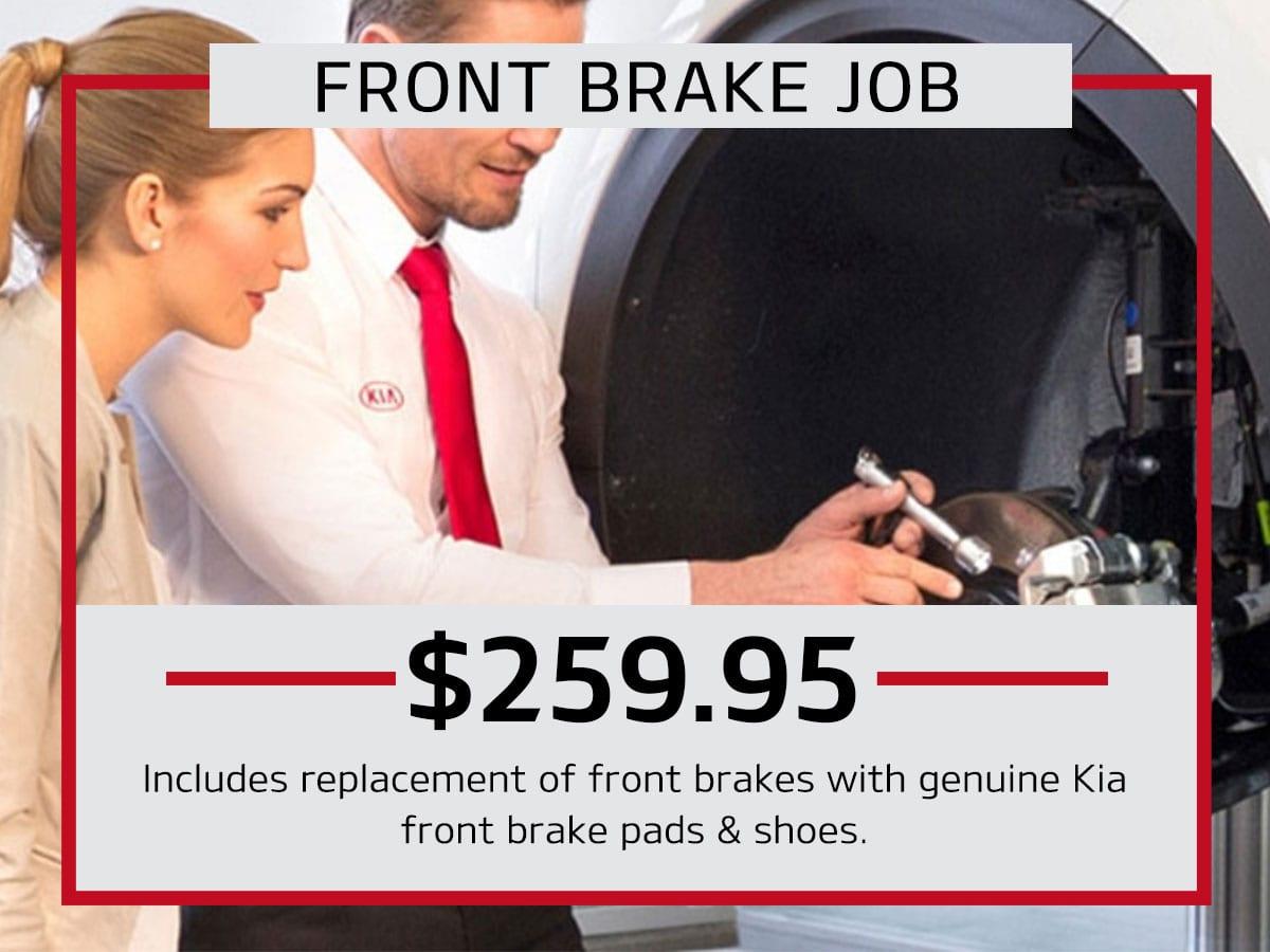 Front Brake Job Service Coupon