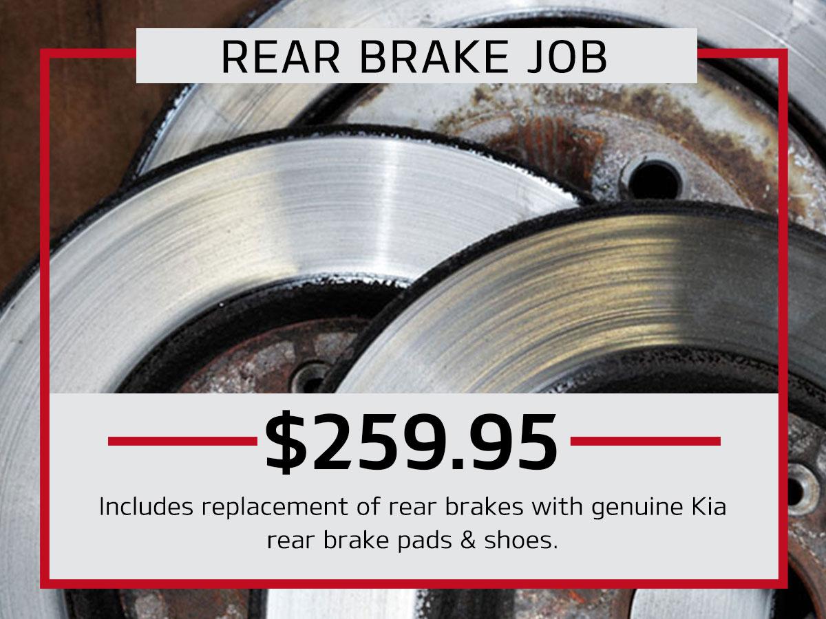 Rear Brake Job Service Special Coupon
