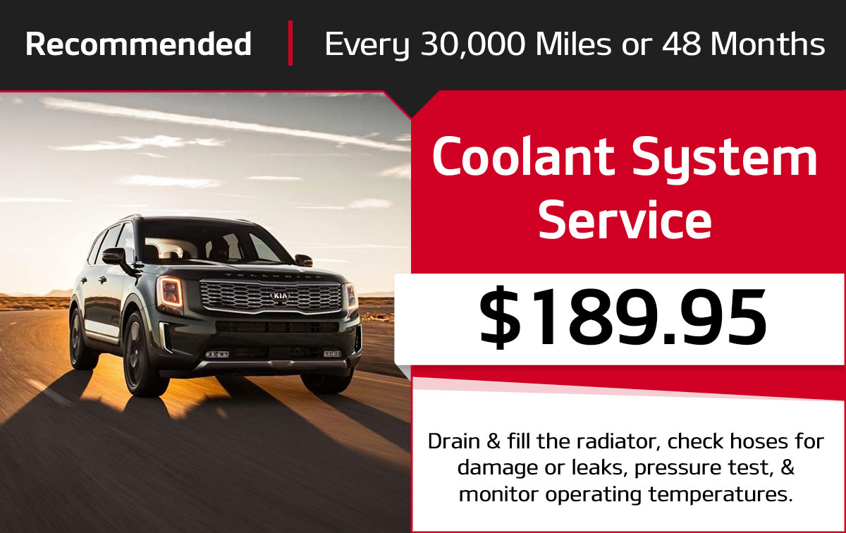 Kia Coolant System Service Special Coupon