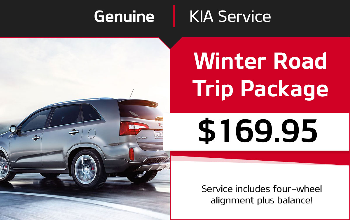 Kia Winter Road Trip Package Service Special Coupon