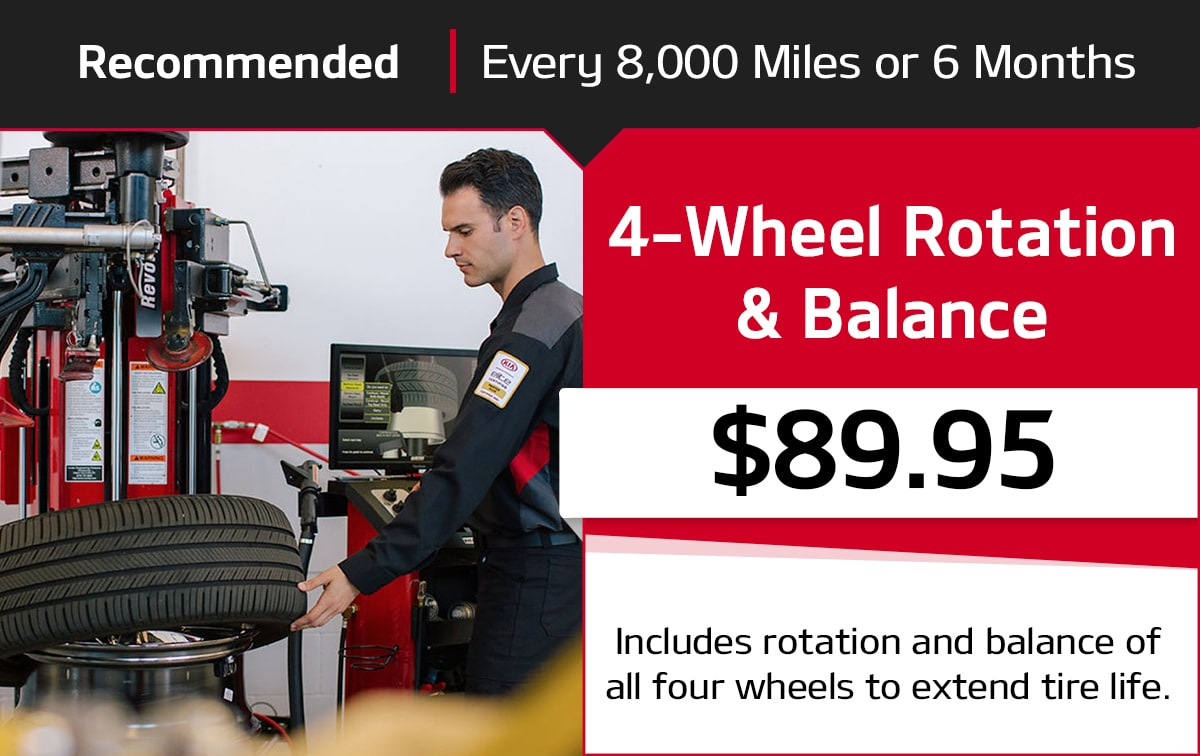 Kia 4-Wheel Rotation & Balance Service Special Coupon