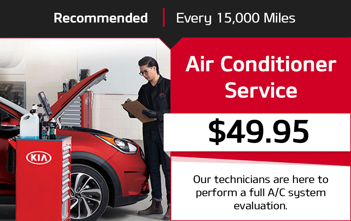 Kia Air Conditioner Service Special Coupon