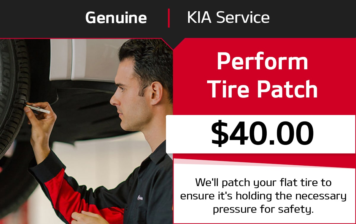 Kia Perform Tire Patch Service Special Coupon