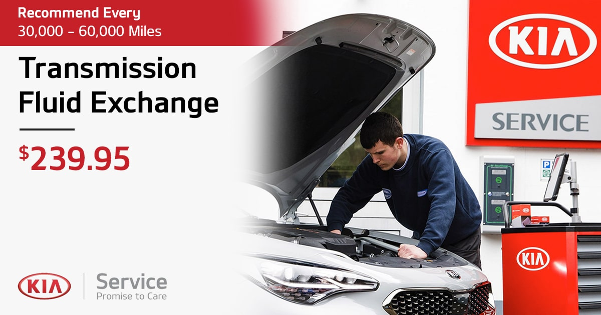Kia Transmission Fluid Exchange Service Special Coupon
