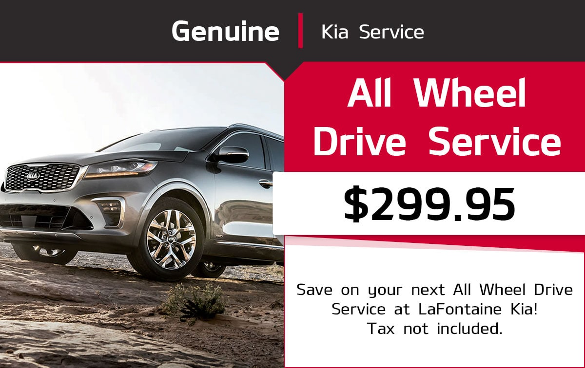 Kia All Wheel Drive Service Special Coupon