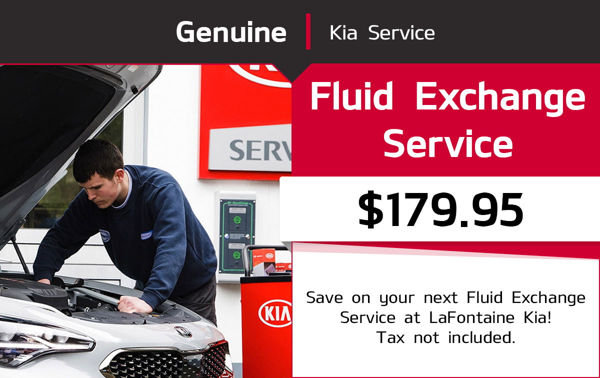Kia Fluid Exchange Service Special Coupon