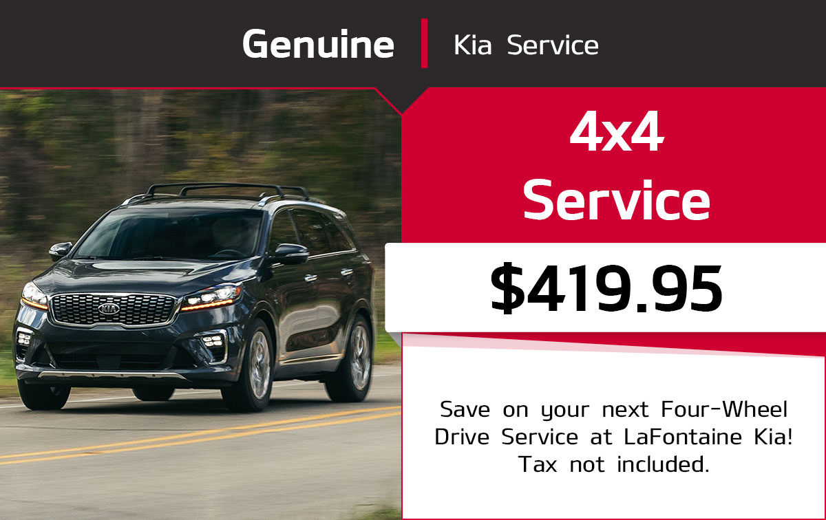 Kia 4x4 Wheel Drive Service Special Coupon