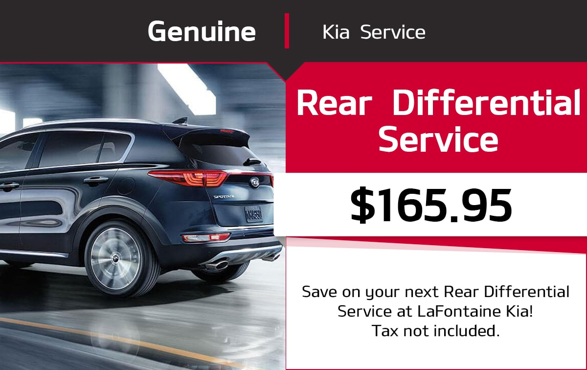 Kia Rear Differential Service Special Coupon