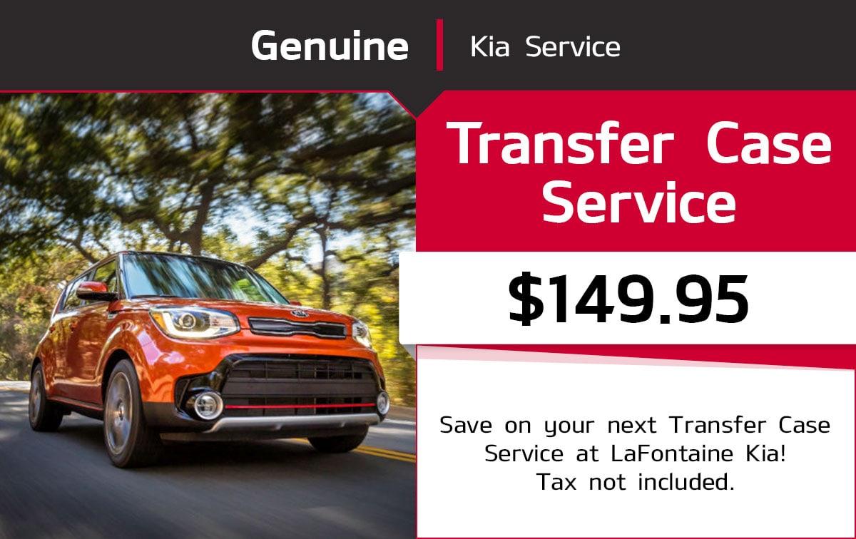 Kia Transfer Case Service Special Coupon