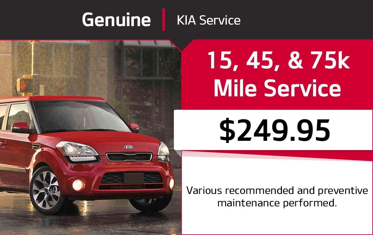 Kia 15, 45, & 75k Mile Service Special Coupon