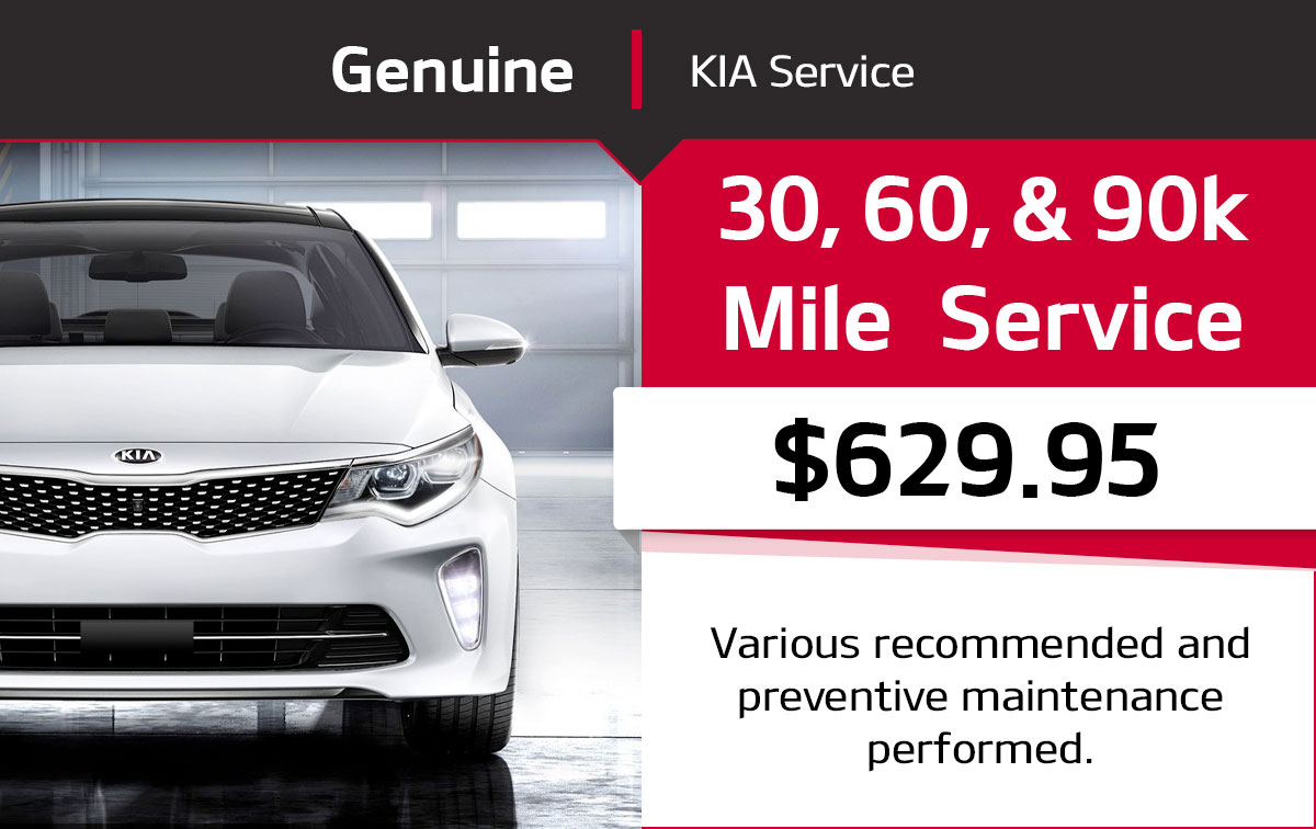 Kia 30, 60, & 90k Mile Service Special Coupon