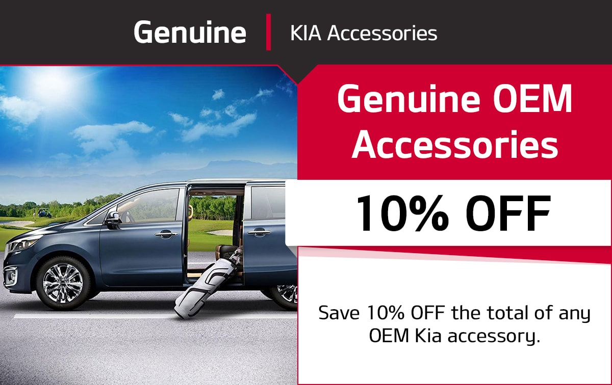 Kia Genuine OEM Accessories Special Coupon