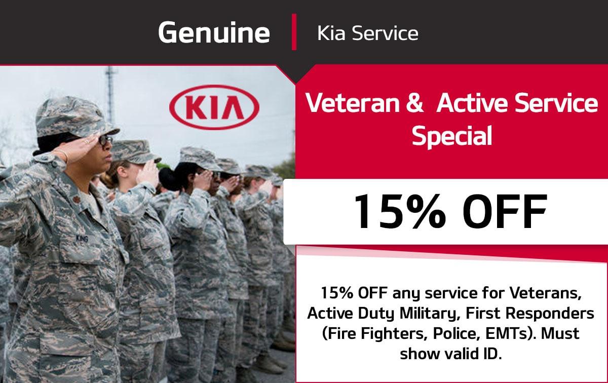 Kia Veteran & Active Service Special Coupon