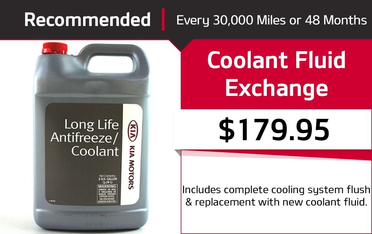 Kia Coolant Fluid Exchange Service Special Coupon