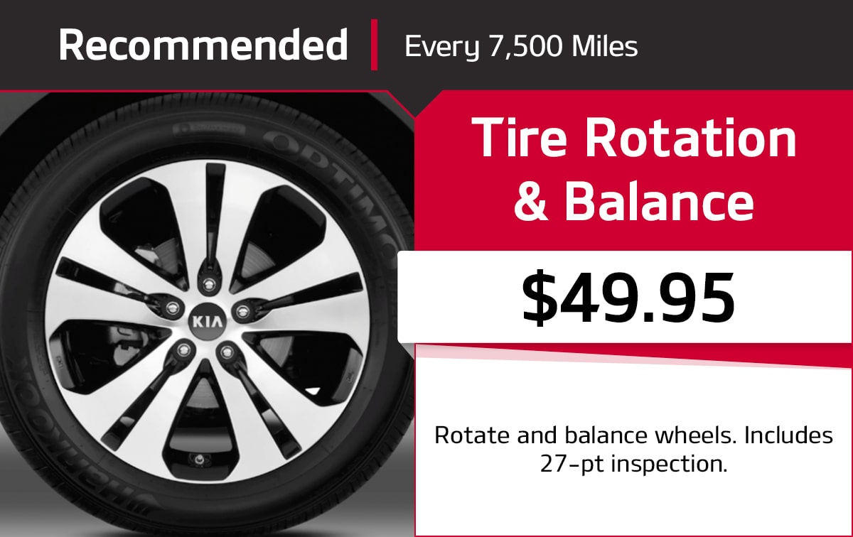 Kia Tire Rotation & Balance Service Special Coupon
