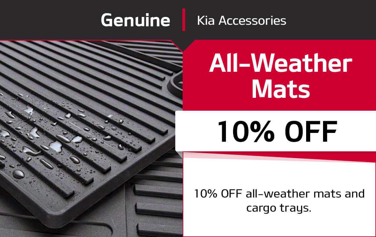 Kia All-Weather Mats Special Coupon