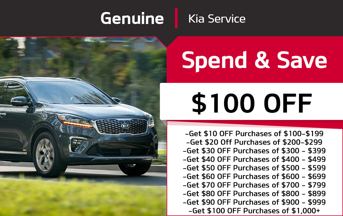 Kia Spend & Save Special Coupon