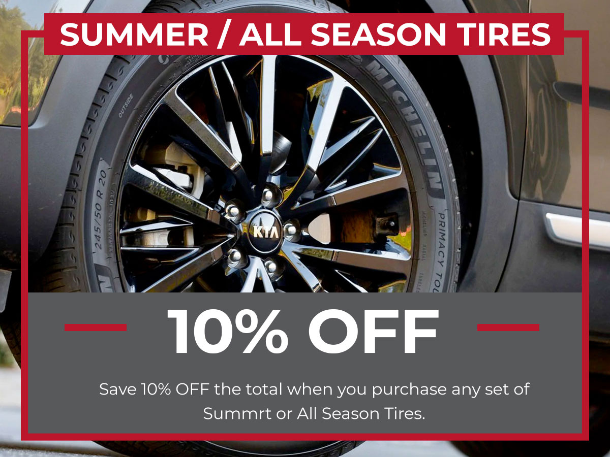 Summer / All-Season Tires Special Coupon