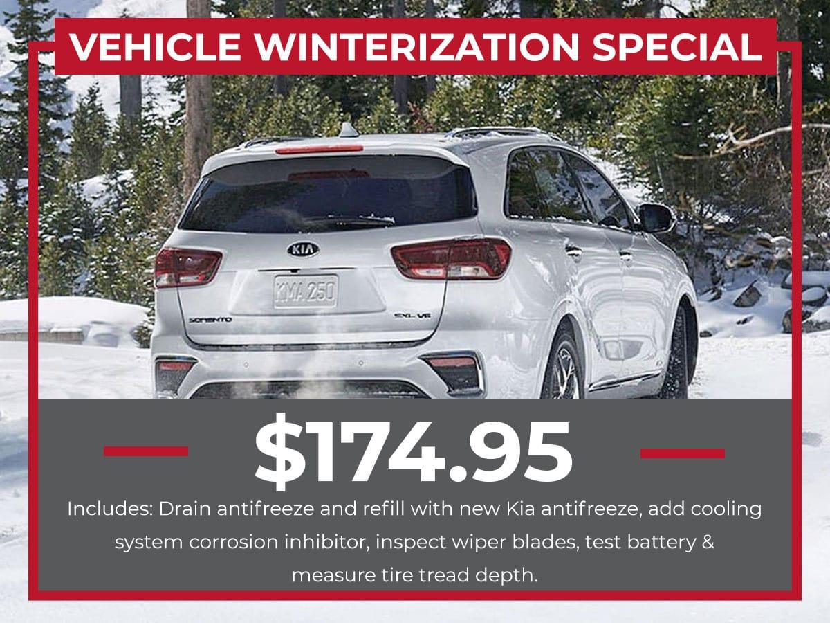 Kia Winterization Service Special Coupon