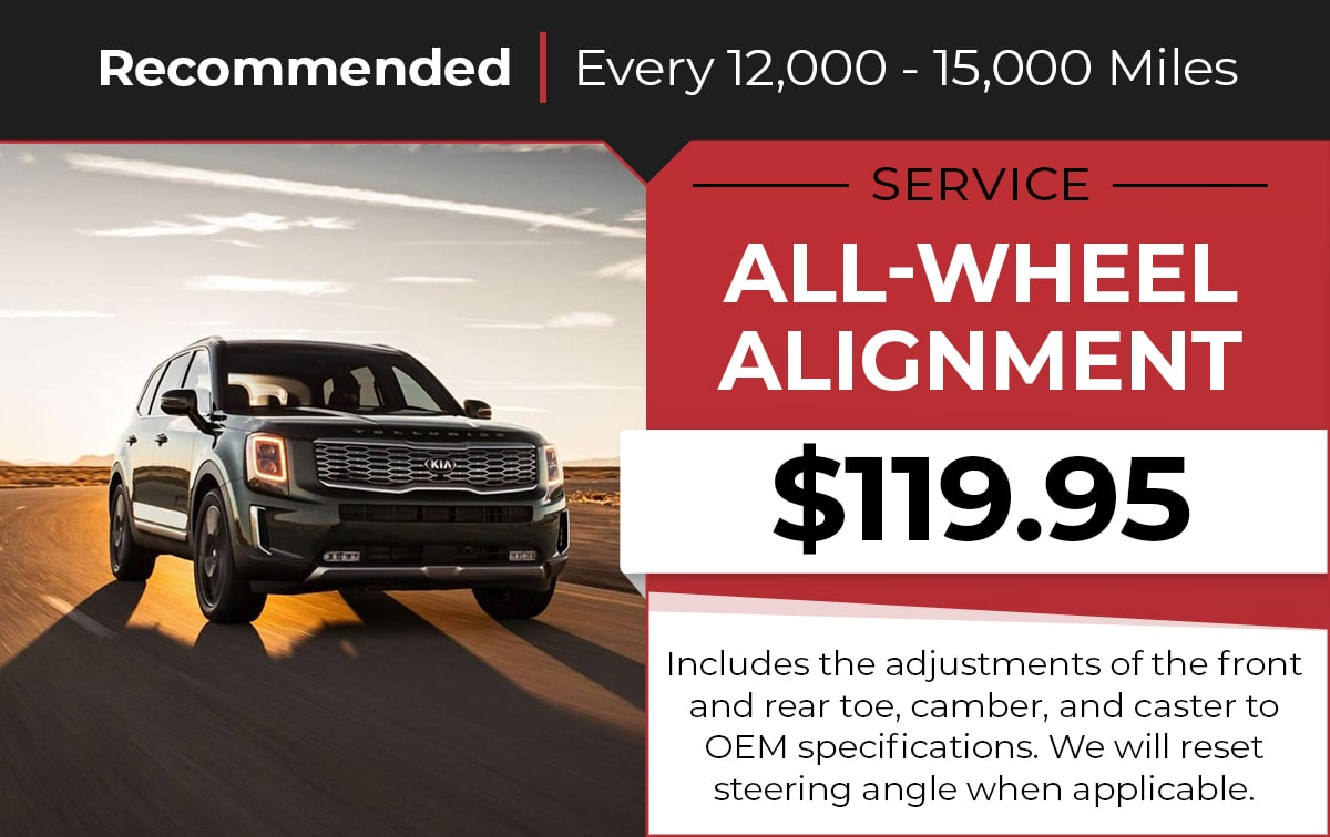 Kia All Wheel Alignment Service Special Coupon