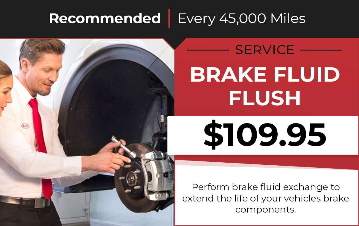 Kia Brake Fluid Flush Service Special Coupon