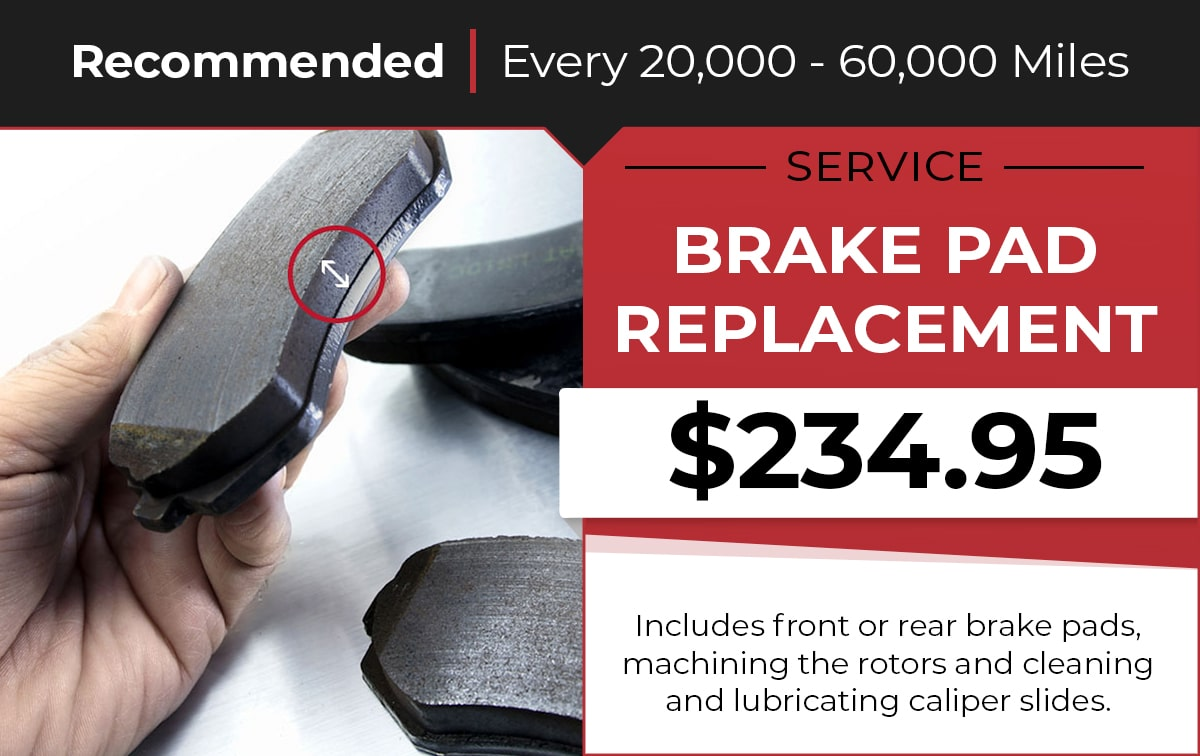 Kia Brake Pad Replacement Service Special Coupon