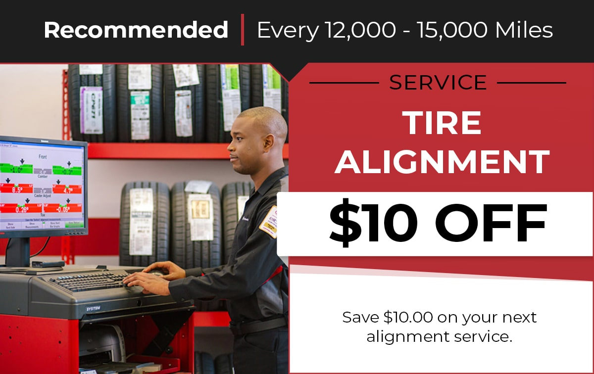 Tire Alignment Service Special Coupon