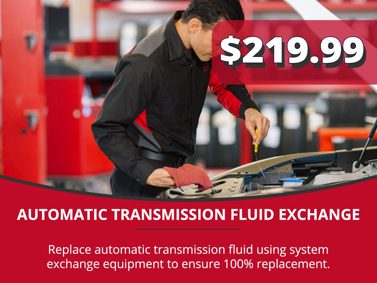 Automatic Transmission Fluid Exchange Service Special Coupon