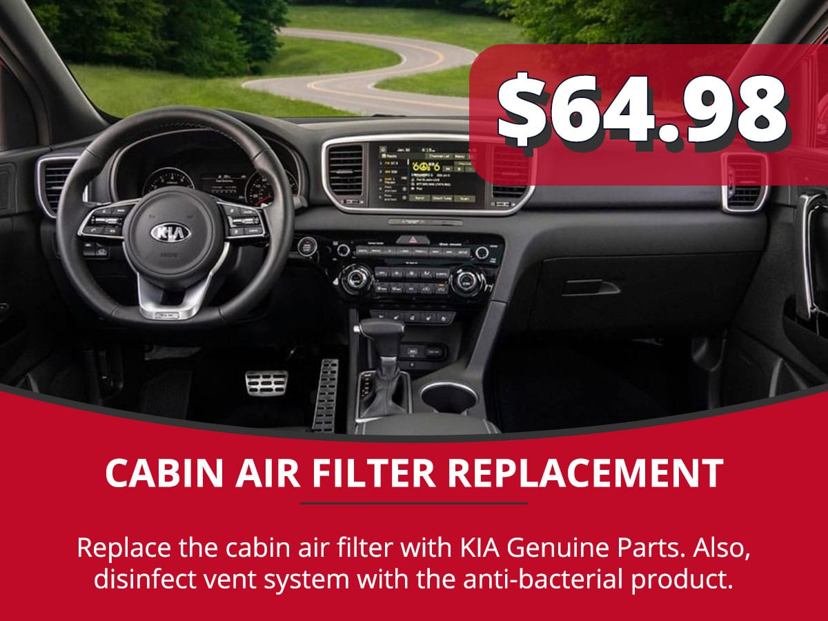 Cabin Air Filter Replacement Service Special Coupon