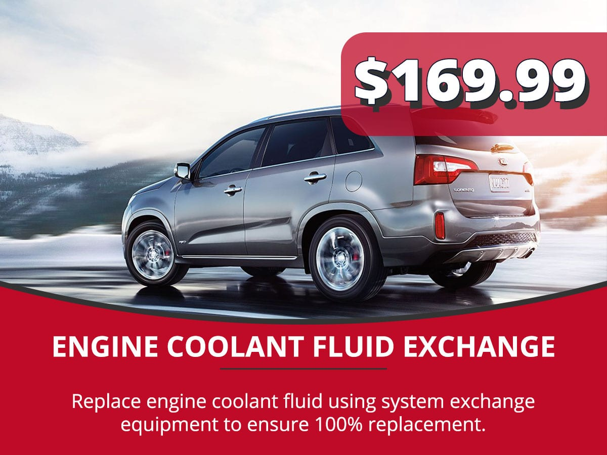 Engine Coolant Fluid Exchange Service Special Coupon