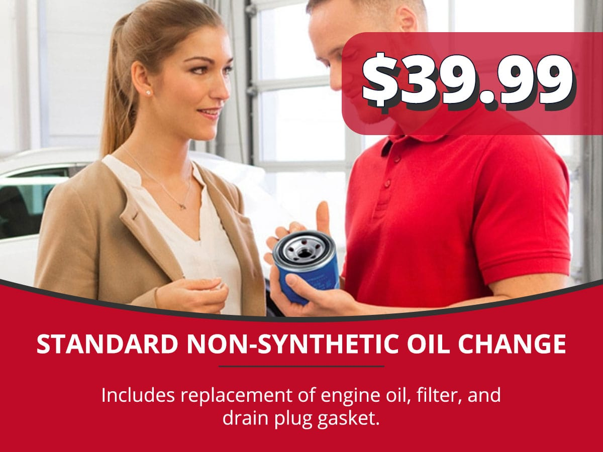 Standard Non-Synthetic Oil Change Service Special Coupon