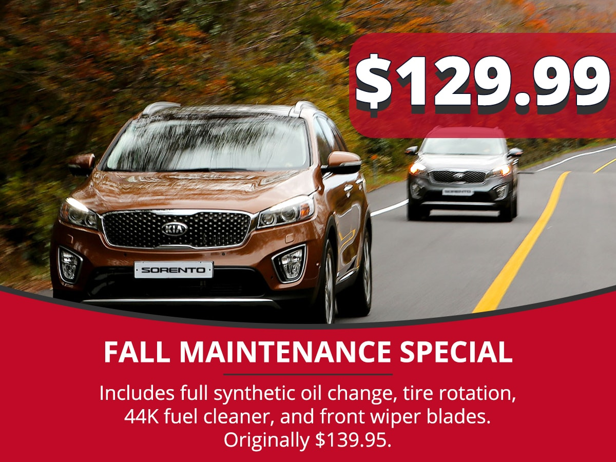 Fall Maintenance Service Special Coupon