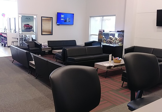 Roper Kia Waiting Area