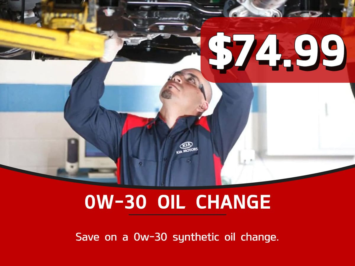 0w-30 Oil Change Service Special Coupon