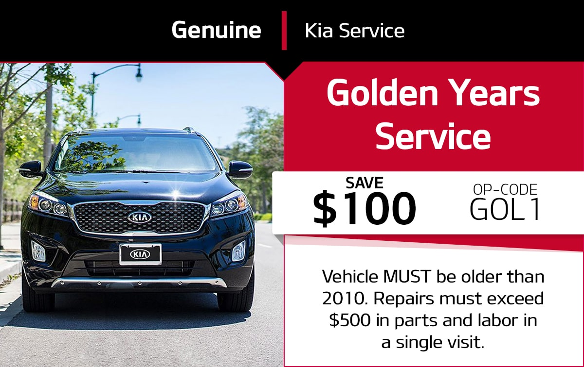 Kia Golden Years Service Service Special Coupon