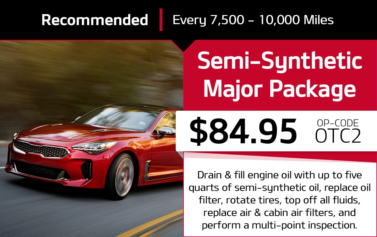 Kia Semi-Synthetic Major Package Service Special Coupon