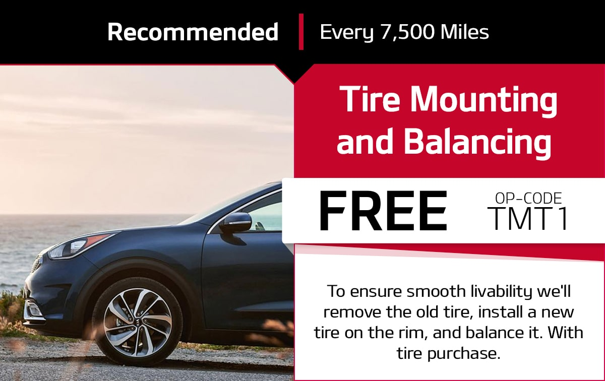 Kia Tire Mounting and Balancing Service Special Coupon