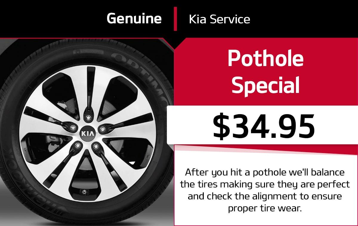 Kia Pothole Service Special Coupon