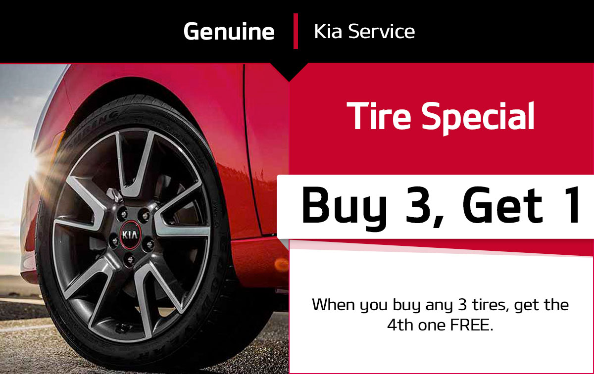 Kia Buy 3 Tires Get 4th FREE Special Coupon