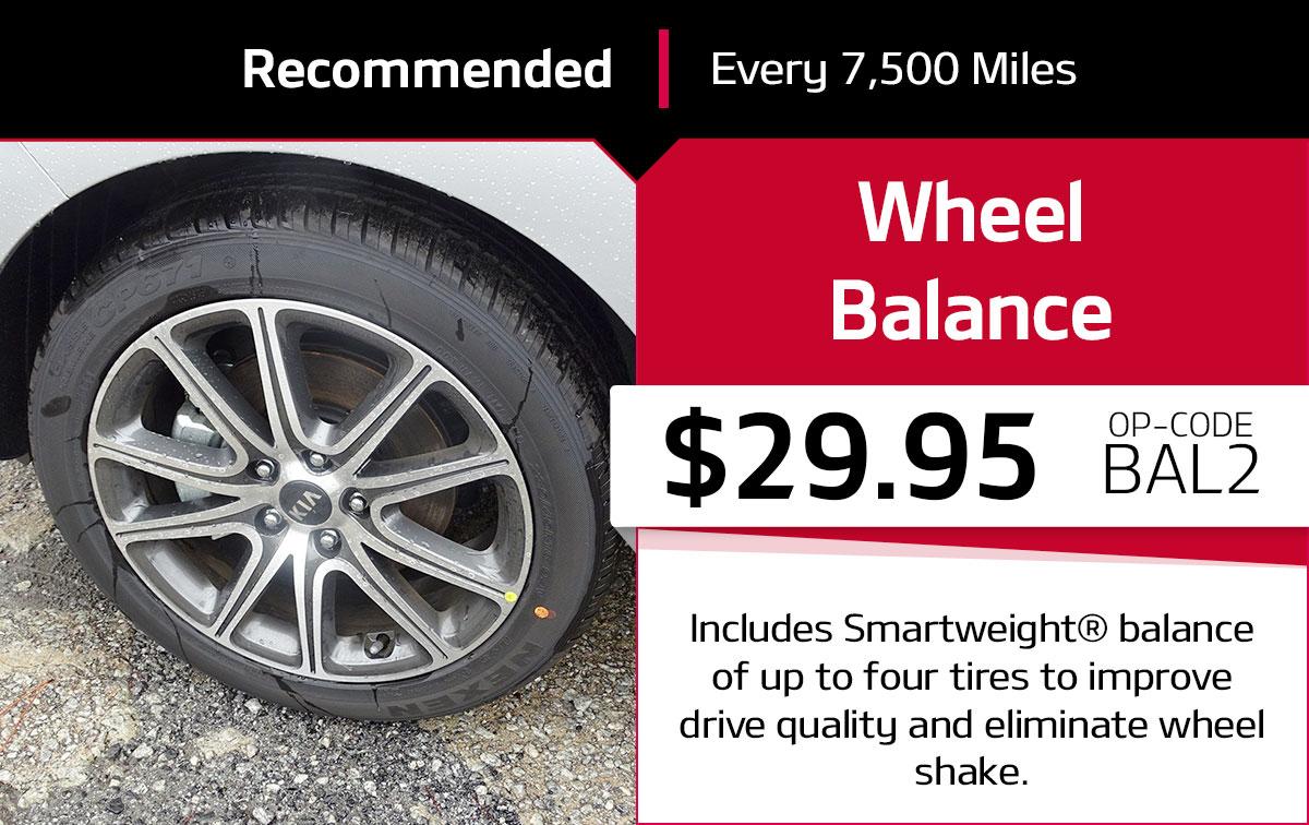 Kia Wheel Balance Service Special Coupon