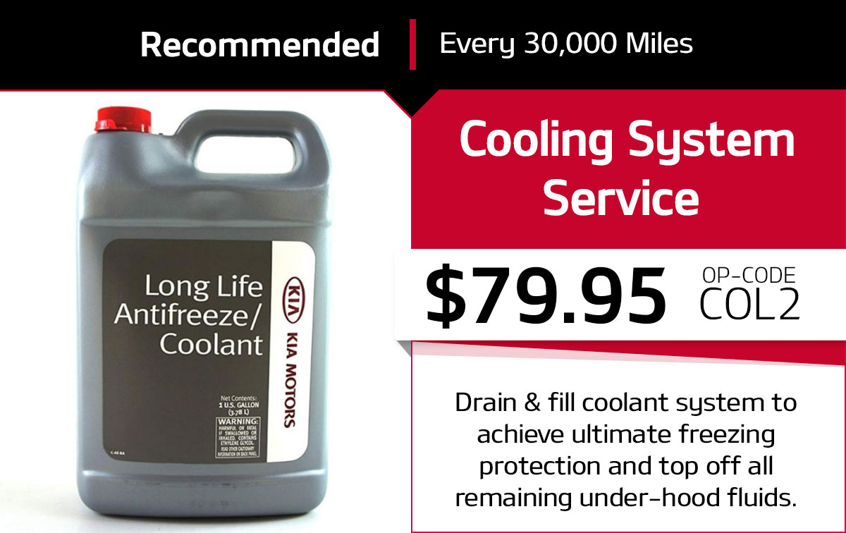 Kia Cooling System Service Special Coupon