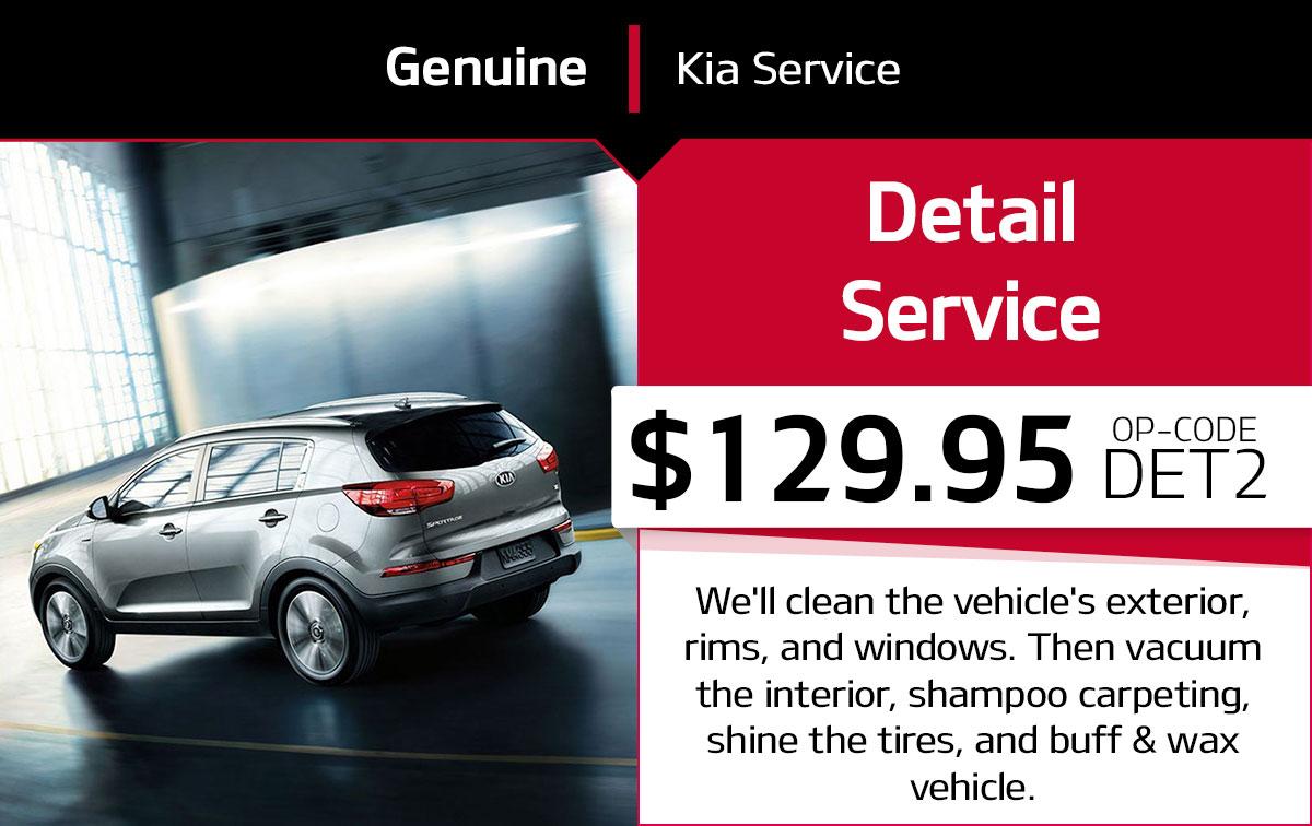 Kia Detail Service Special Coupon