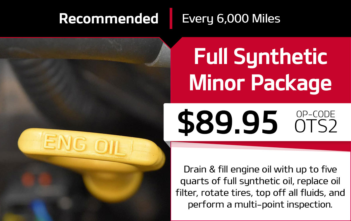 Kia Full Synthetic Minor Package Service Special Coupon