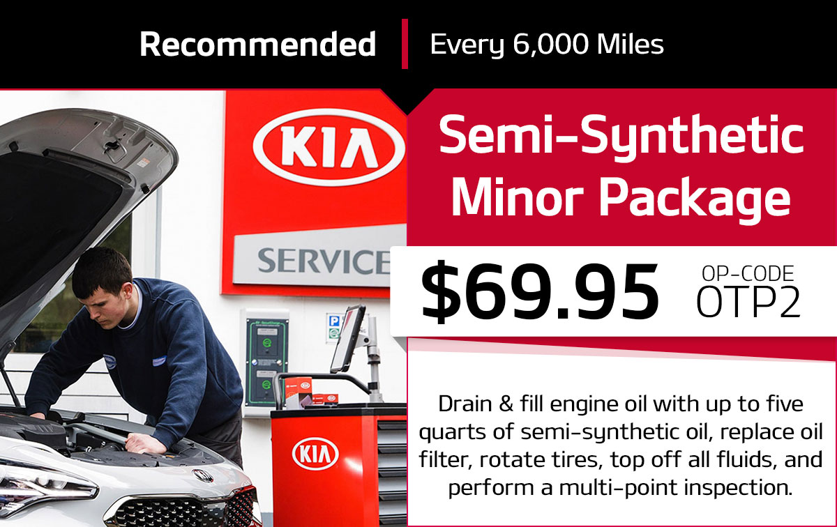 Kia Semi-Synthetic Minor Package Service Special Coupon