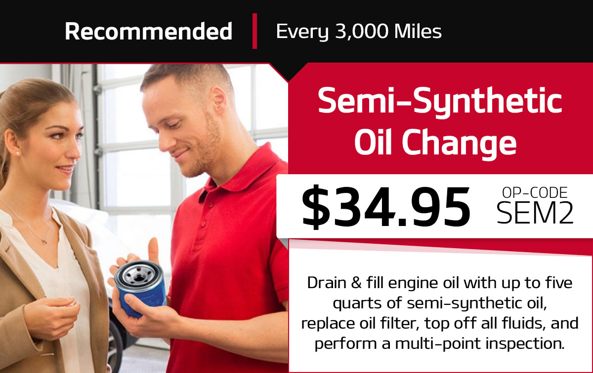 Kia Semi-Synthetic Oil Change Service Special Coupon