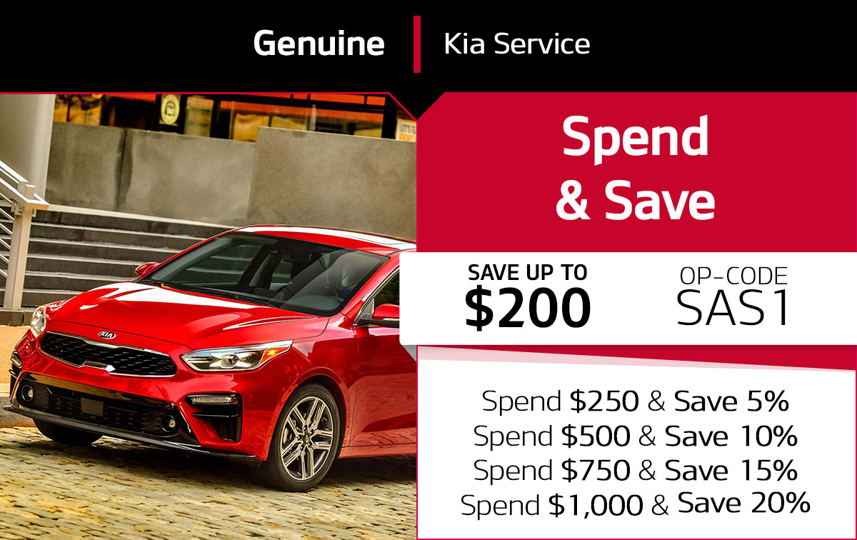 Kia Spend & Save Service Special Coupon