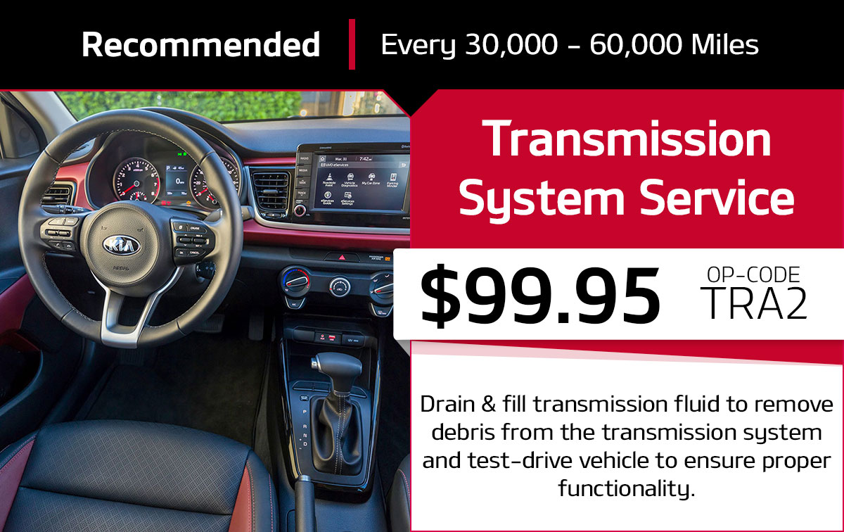 Kia Transmission System Service Special Coupon