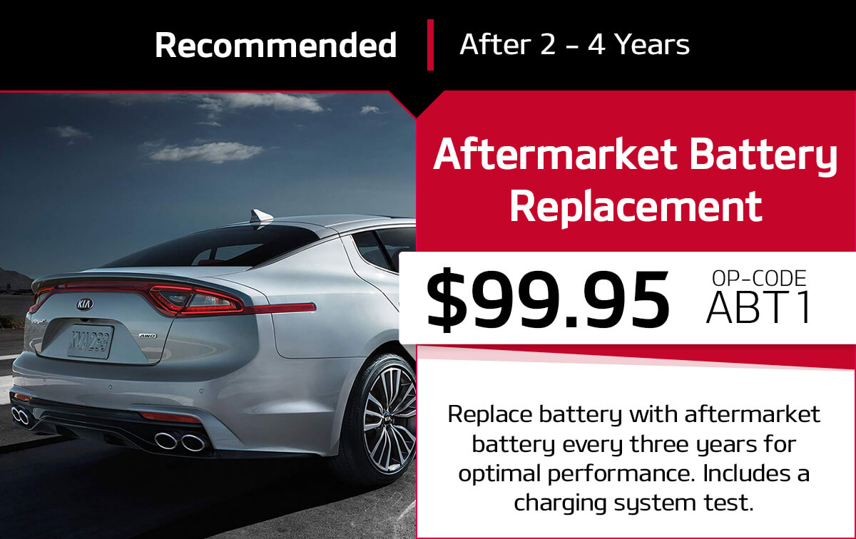 Kia Aftermarket Battery Replacement Service Special Coupon